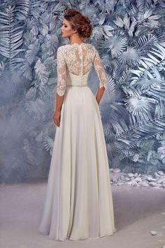 d17e8a3d6a1d Bridal Dress - Polly Lace Wedding Dress - 3 4 Sleeve Wedding Dress - Simple  Wedding Dress - Abito da Sposa - Long Sleeve Wedding Dress