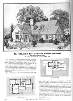 Sears Modern Home - No. 3359 or The Ellison
