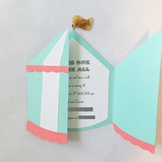 Diy in the Forest: circus tent invitation