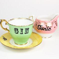 Gin & Tonic Tee-Set von yvonneellen auf Etsy