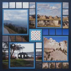 Pages Love this Road Trip layout on how the edges of each photos was cut into a mosaic look.Love this Road Trip layout on how the edges of each photos was cut into a mosaic look. Beach Scrapbook Layouts, Scrapbook Examples, Christmas Scrapbook Layouts, Travel Scrapbook Pages, Scrapbook Templates, Scrapbook Paper Crafts, Scrapbooking Layouts, Scrapbook Borders, South Dakota Travel