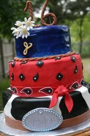 Western themed sweet 16 cake