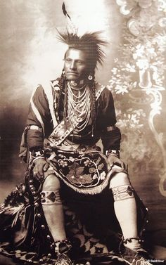 Menominee dancer in regalia
