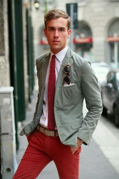 Red ' Fashion Outfit for Men - Style