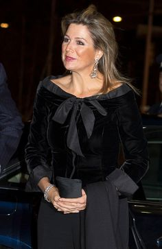 The King Willem-Alexander and Queen Máxima of the Netherlands attended the Jubilee of the Hague residential Orchestra concert on the night of 21 November 2014.