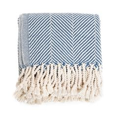 Brahms Mount Herringbone Throw www.roomsandgardens.com