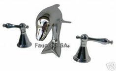 CHROME DOLPHIN SINK FAUCET BATHROOM FAUCETS TUB AVAIL L