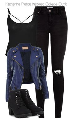 """""""Katherine Pierce Inspired College Outfit"""" by staystronng ❤ liked on Polyvore featuring Boohoo, Call it SPRING, college, tvd and KatherinePierce"""