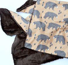Geometric Bears Faux Fur Baby Blanket Instagram: @loveandlullabies