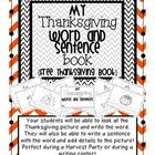 Free! Thanksgiving Words and Sentences Book! This is perfect for Kindergarteners and first graders