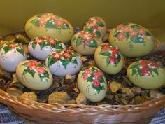 Flowered Easter Eggs