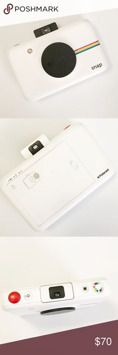Polaroid Snap Camera in White Fully functional polaroid Snap Camera in White, used once or twice. Polaroid Other