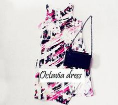 Octavia dress Comes in 2 colors - Pink and blue  >>www.sheilaoink.com