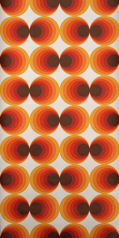 Love this wallpaper – original bubble-style retro wallpaper Retro Vintage, Motif Vintage, Vintage Patterns, 70's Wallpaper, Pattern Wallpaper, Wallpaper Quotes, Cool Backgrounds, Wallpaper Backgrounds, Vintage Backgrounds