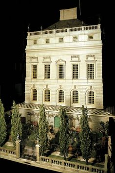 Queen Mary's Dolls' House, Windsor Castle - built to the scale of one inch to one foot - housed in a room specially designed by Sir Edwin Lutyens who also designed the house in the early 1920's - garden designed by Gertrude Jekyll