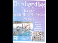 Fun for the whole family!  Saturday, March 29 from noon until 8 p.m.!  Romulus Athletic Center! $10 per person when you mention #Christyslegacyofhope or just fundraiser!