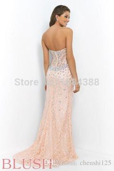 Sexy Crystal Sheer Corset Bodice  Prom Dresses  High Slit Sweetheart Off the Shoulder Floor Length Backless Evening Gowns