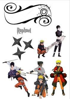 topper Naruto Shippuden Naruto Shippuden, Itachi Uchiha, Naruto And Sasuke, Bolo Naruto, Naruto Characters, 10th Birthday, Cake Toppers, Safari, Cool Stuff
