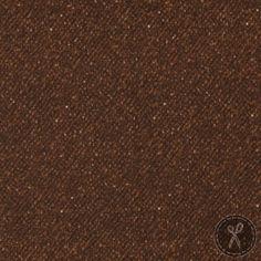 Woolies Flannel Fabric Nubby Tweed - Dark Brown