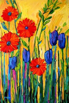 Original Acrylic Painting Size: x x Just for Rosetta! All images, content copyright (c) 2014 Patty Baker, PattyaBaker, Lookout Studios. Abstract Art Painting, Art Painting, Art Blog, Flower Art, Floral Art, Acrylic Painting Inspiration, Whimsical Art, Art, Abstract