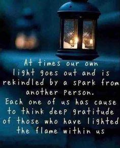 Whose light are you rekindling?