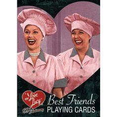 I Love Lucy Playing Cards: With these I Love Lucy 60th Anniversary Playing Cards you can celebrate one of television's best friendships. Any I Love Lucy or Lucille Ball fan will love this deck of cards!  $5.99  http://calendars.com/Comedy-TV/I-Love-Lucy-Playing-Cards/prod201200011779/?categoryId=cat00064=cat00064#