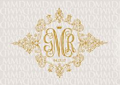 Royal Wedding Vintage Custom Wedding Monogram by merrymint