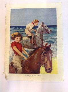 Vintage Book Plate for Framing 1950s