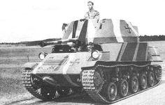 "Landsverk ""Anti II"" with standard summer camouflage 1943 г."