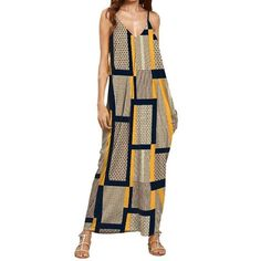 Sleeveless Maternity Maxi Dress