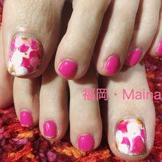 #福岡 #ネイルサロン #Mainail  #シンプル #大人 #かわいい #naildesign #モテネイル #nailaddict #nailart #nailstagram #nails #フットネイル #フラワー #ピンク