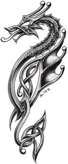 celtic dragon 2 by roblfc1892.deviantart.com on @DeviantArt