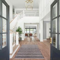 A Contemporary Arizona House Embraces Craftsman Style Craftsman Interior, Craftsman Style, Custom Home Builders, Custom Homes, Building A New Home, Staircase Design, Grand Staircase, Home Reno, Great Rooms