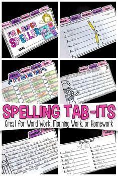 Spelling Tab-Its |