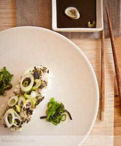 Receta de bacalao fresco al horno con algas