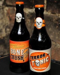 PRINTABLE Retro HALLOWEEN Beer labels