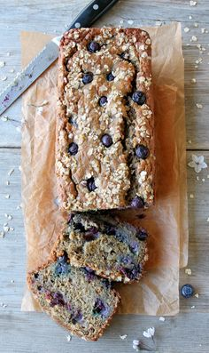 Protein-Rich Blueberry Yogurt Banana Bread (Whole Grain, Gluten-Free) | Inspired Edibles