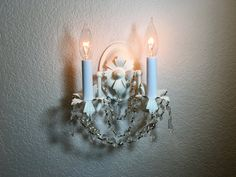 Sconcewhite rustic wall sconce wall lamp by HandmadeLightingCo $85.00