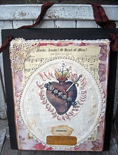French style Immaculate heart of Mary wall by LittleBeachDesigns, $38.00