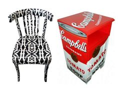 artist painted furniture | Pop Art Painted Furniture Silvia Zacchello