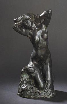 Auguste RODIN (1840-1917) - La toilette de Vénus (dite aussi Faunesse agenouillée [...], Tableaux et Sculptures, Objets d'Art et Mobilier à De Baecque & Associés | Auction.fr