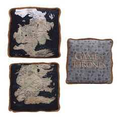 Game of Thrones Westeros Map Throw Pillow Cases