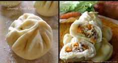 Baozi or Bakpao With vegetable and beef inside.