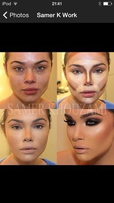 Insta-Makeovers Will Make You Insta-Impressed Wow! The power of contouring. & MAKE UP in general.Make-up (disambiguation) Make-up or makeup may refer to: Le Contouring, Contour Makeup, Contouring And Highlighting, Skin Makeup, Contouring Round Face, Flawless Makeup, Makeup Eyebrows, Power Of Makeup, Love Makeup