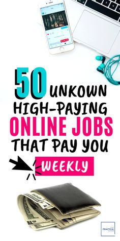 Looking to make some extra cash or how about quit your day job? Find 50 Online Jobs that you havent heard of and require no experience. This list of work from home jobs are high-paying and flexible, make your own hours. Work remote and earn hundreds of d Ways To Earn Money, Earn Money From Home, Earn Money Online, Way To Make Money, How To Make, Online Earning, Money Today, Money Fast, Money Tips