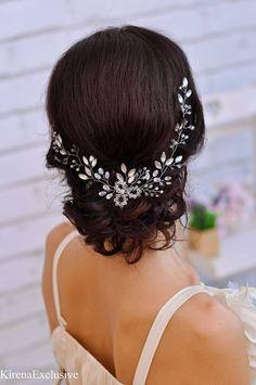 Wedding hair piece Bridal hairpiece Bridal hair piece Wedding #affiliate