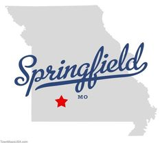 Map of Springfield Missouri MO