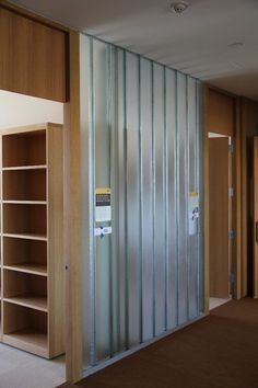 Double-glazed channel glass walls by Bendheim Wall Systems are found on four floors of this multi-use university building. U Glass, Channel Glass, Commercial Interiors, Glass Design, Tall Cabinet Storage, Design Inspiration, Flooring, Architecture, Green Walls
