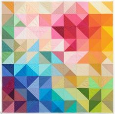 Colourful triangle quilt