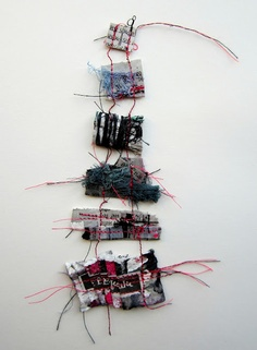 stitch therapy: memory threads: This might work with my found object poems...